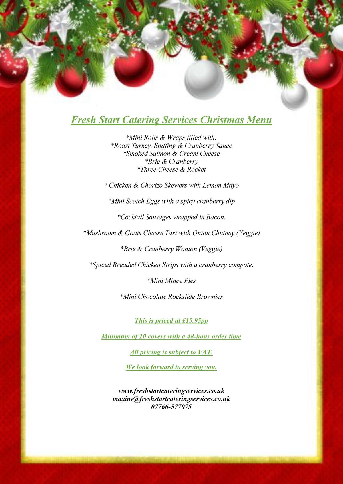 FSCS Christmas Menum202106