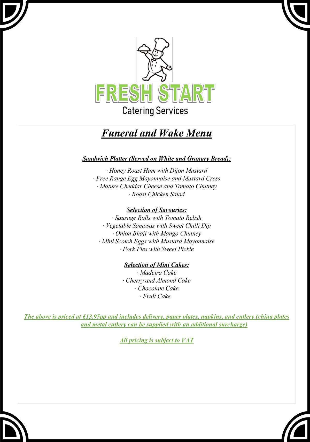FSCS funeral menu